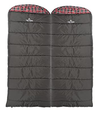 TETON Sports Celsius 0 Degree F Flannel Lined Sleeping Bag, TETON Sports Celsius XXL Sleeping Bag