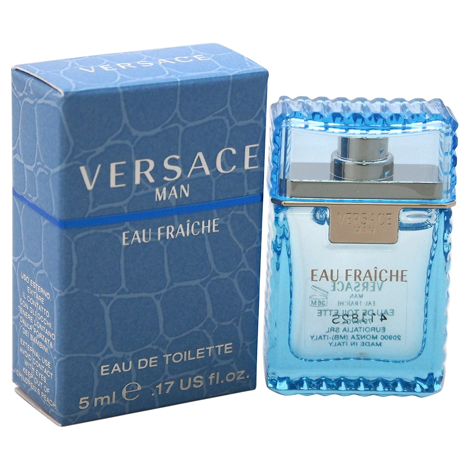 Man Eau Fraiche by Versace, 0.17 Ounce