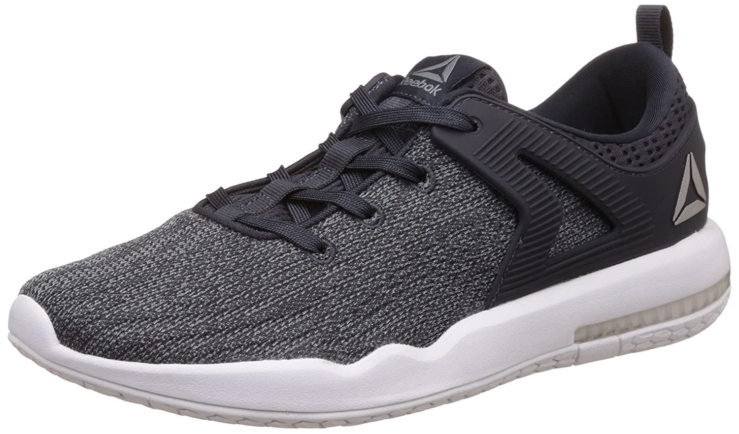 Reebok Men's Hexalite X Glide Dust, Lead, White and Pewter Running Shoes 6 UKIndia (39 EU)(7 US): Buy Online at Low Prices in India Amazon.in