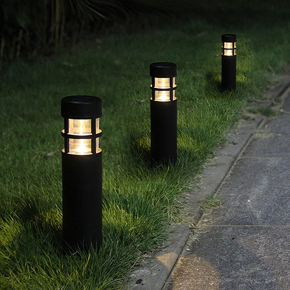 Voona Solar Bollard Lights Outdoor 6 Pack Garden Led