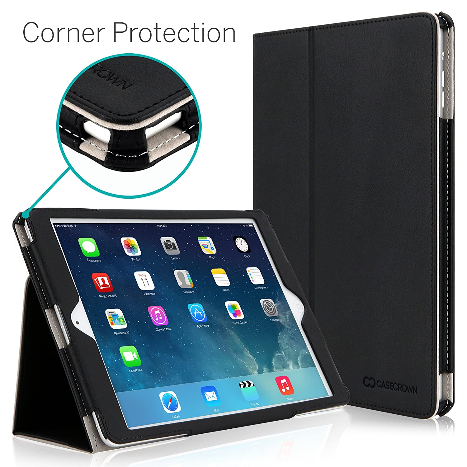 [CORNER PROTECTION] CaseCrown Bold Standby Pro Case (Black) for Apple iPad Air $16.19
