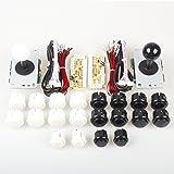 EG Starts Arcade DIY Kits Controller USB Encoder To PC Games 2 5Pin 8 Way Sticker + 20x Push Buttons ( 2.8mm Terminal )For Arcade Joystick Mame Raspberry Pi 1 2 3 KOF Parts White / Black