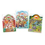 Melissa & Doug Puffy Sticker Play Sets - Safari, Pirate, On the Farm