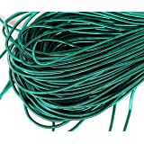 10g Emerald Green Round Smooth Copper Hand Embroidery French Fine Metallic Wire Goldwork Bullion Luneville Tambour Indian Gimp Dabka Purl (Color: Emerald Green, Tamaño: 1mm)