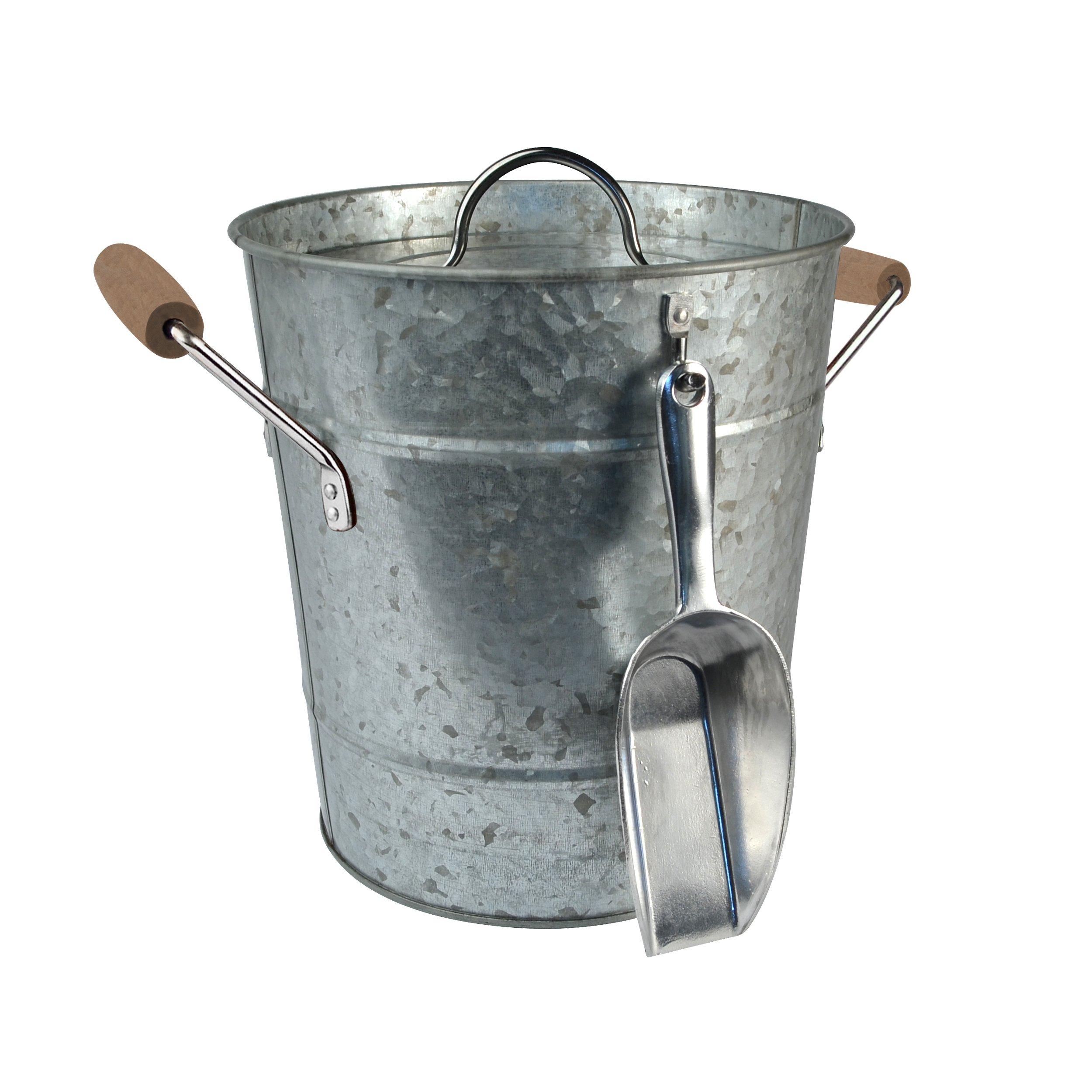 Artland Oasis Ice Bucket With Scoop Galvanized Metal