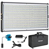 NEEWER BI-COLOR LED PROFESSIONAL VIDEO LIGHT PARA ESTUDIO - kit de iluminación para fotografía de video para exteriores de YouTube, marco de metal duradero, 960 perlas LED, 3200-5600K, CRI 95