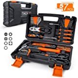 TACKLIFE 57-Piece Home Tool Kit - General Household Tool Set with Storage Case-HHK3A (Tamaño: 57PCS)