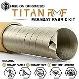 TitanRF Faraday Fabric - Pro Construction Kit XL 50 Yards - Military Grade Fabric Blocks RF Signals (WiFi, Cell, Bluetooth, etc.) - Dims: 150ft L x 44in W / 550 sq ft / + Free 20ft L Conductive Tape (Tamaño: Pro Construction Kit - 50 Yards (44in W x 150ft L))