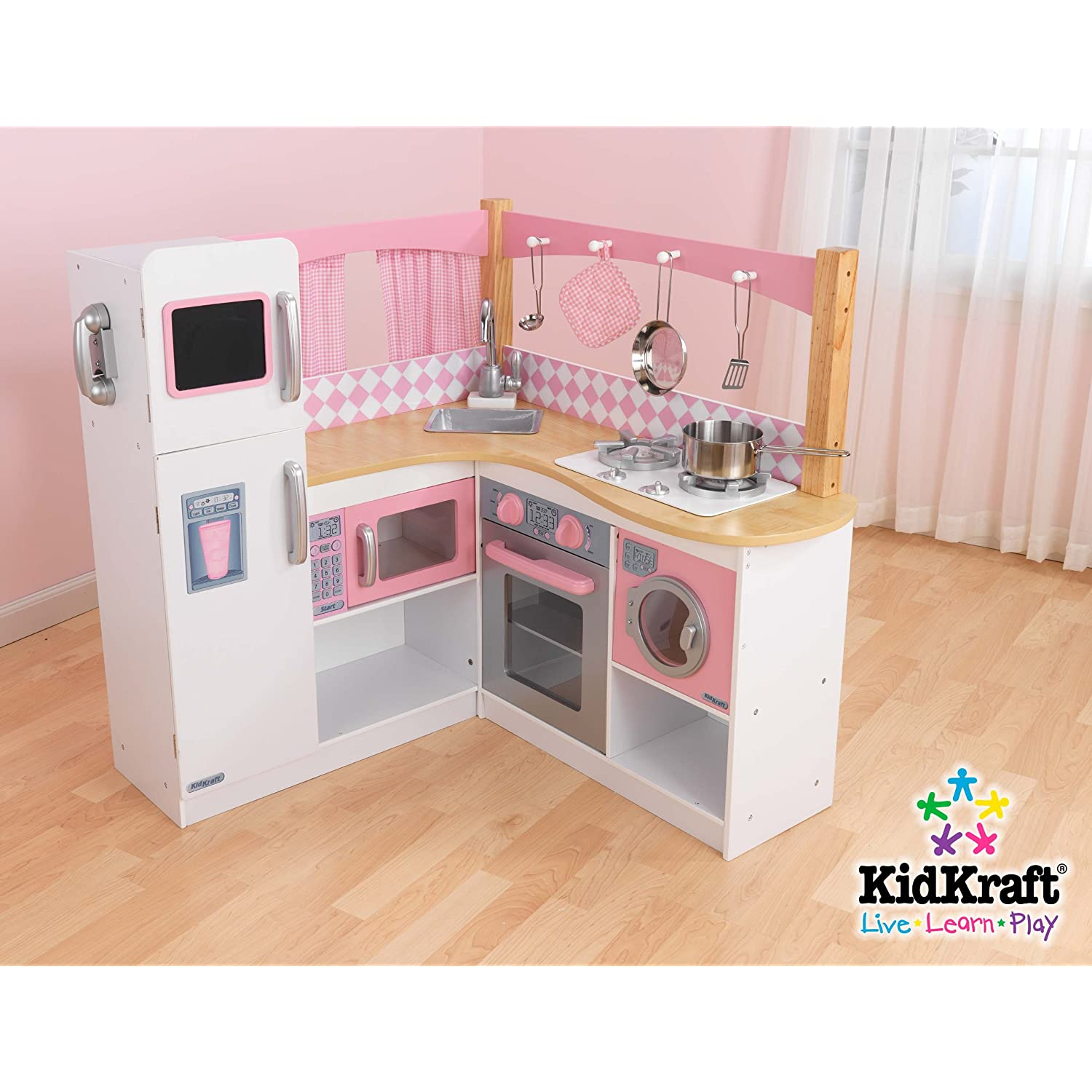 Kidkraft Kids Pretend Play Wood Grand Gourmet Corner Play Kitchen Extras