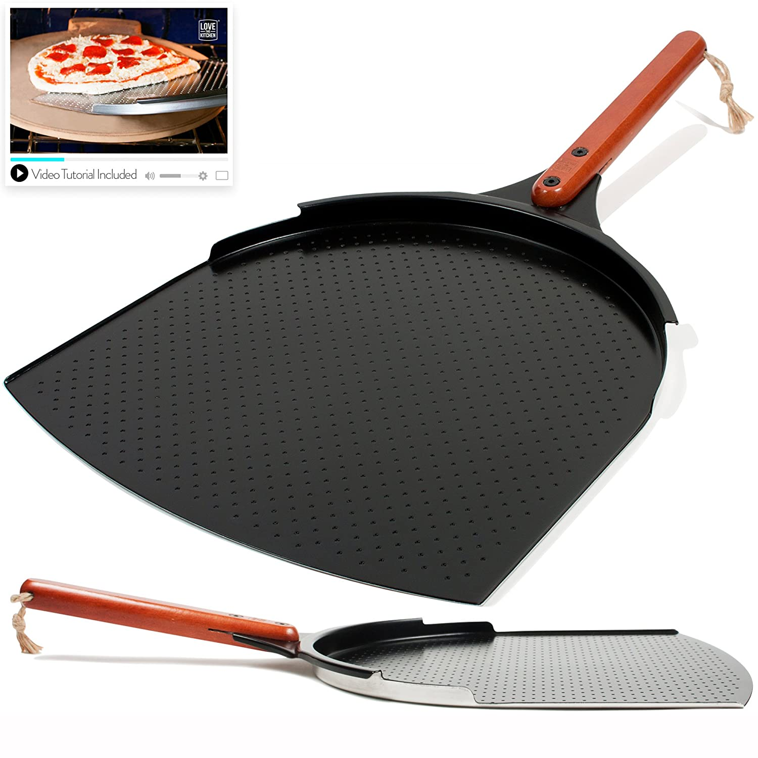 Best Pizza Peel #5: LOVE THIS KITCHEN Aluminum Pizza Peel