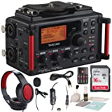 Tascam DR-60DmkII 4-Channel Portable Recorder for DSLR with Deluxe Accessory Bundle and Cleaning Kit