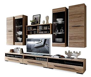 wohnwand eiche sanremo sasha 31 de122. Black Bedroom Furniture Sets. Home Design Ideas