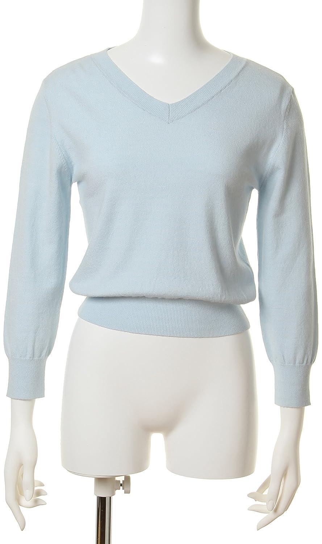 Amazon.co.jp: (スナイデル)snidel シンプルVネックニット SWNT151180 6 LBLU F: 服&ファッション小物通販