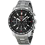 New Seiko stainless steel chronograph date 100m quartz 40mm watch SSB031P1