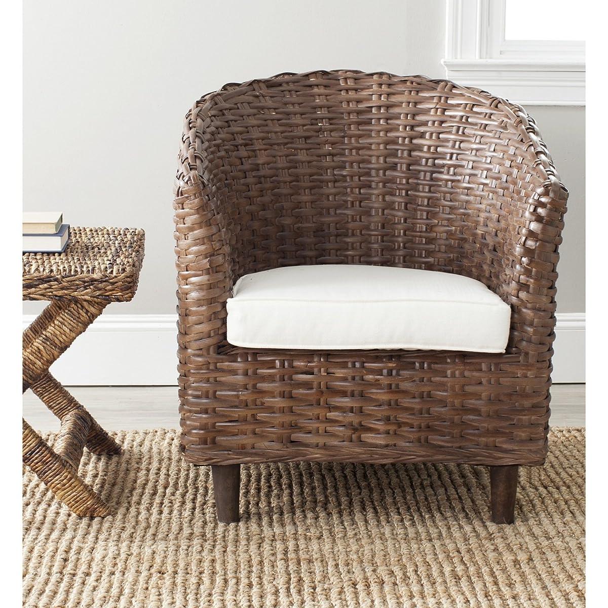 Safavieh Home Collection Omni Brown Glaze Barrel Chair