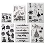 Merry Christmas Theme Clear Stamps for Making Card Decoration and Scrapbooking Album Paper(Merry Christmas) (Color: Merry Christmas Clear Stamps)