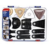 WORKPRO 24-Piece Oscillating Accessory Kit Mixed Multitool Saw Blades for Sanding, Grinding and Cutting (Tamaño: full size)