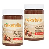 nekstella Sugar Free Natural Chocolate Hazelnut Spread - Palm Oil Free (2 pack) 16 oz jar