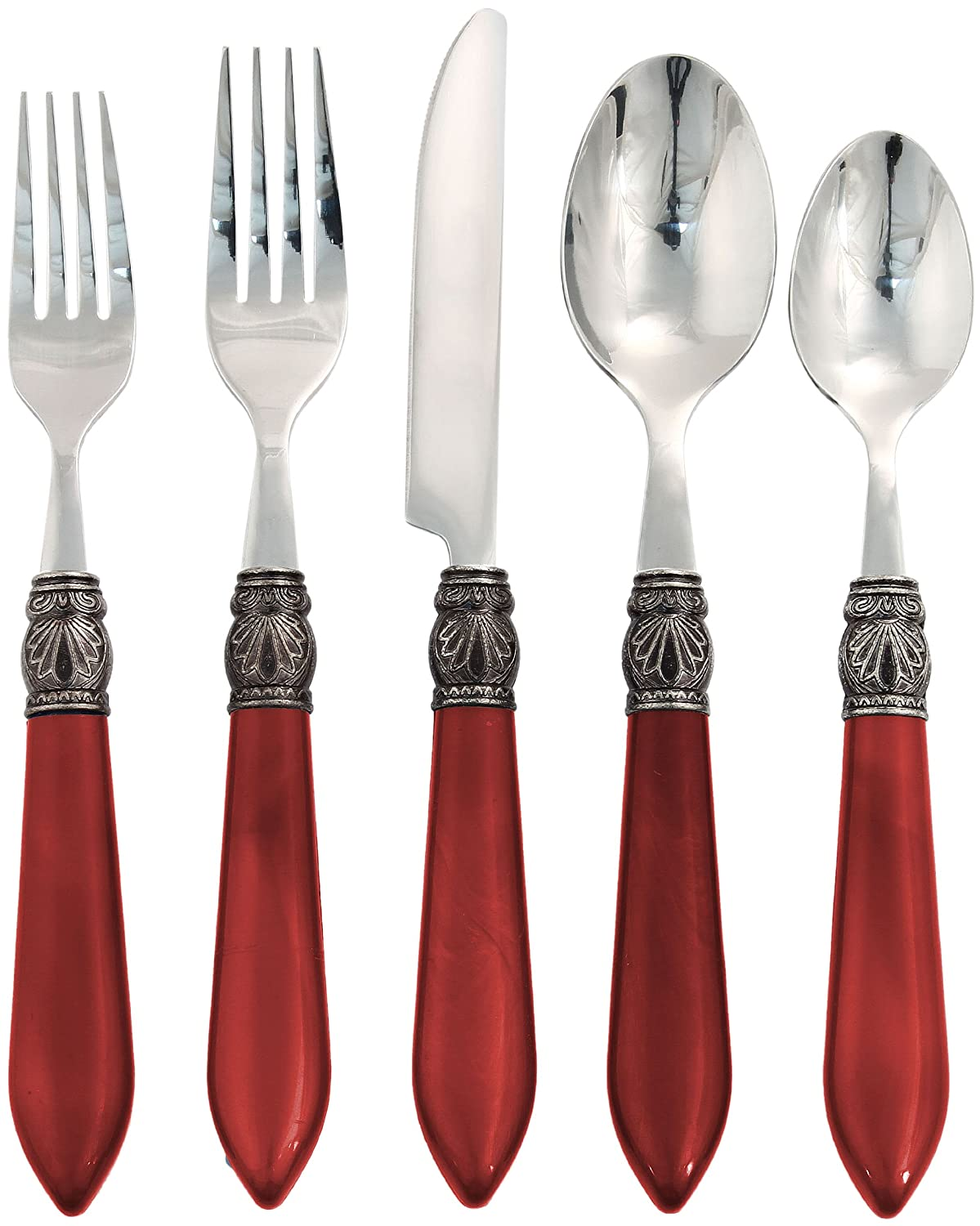Red Sophia Flatware Set