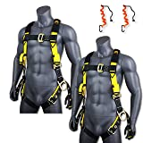 KwikSafety (Charlotte, NC) SUPERCELL (2 PACK) ANSI OSHA Full Body Personal Fall Protection Safety Harness Dorsal Ring Side D-Rings Grommet Tongue Buckle Straps Tool Lanyard Construction Tower Roofing (Color: Harness + Harness + Tool Lanyard + Tool Lanyard, Tamaño: 2 PACK (SAVE $5))