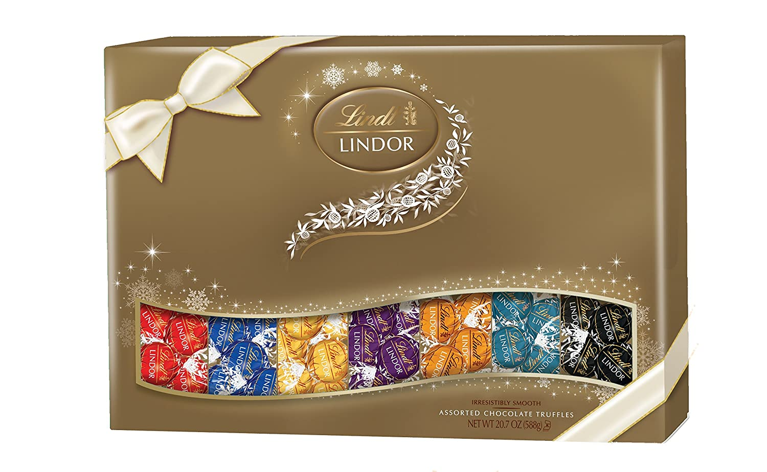 Lindt LINDOR Assorted Chocolate Deluxe Sampler Gift Box, 20.7oz