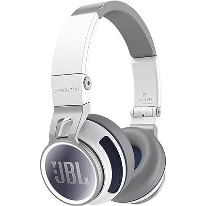 JBL Synchros S400BT Casque sans fil Stéréo avec Bluetooth, NFC et Housse de Transport - Blanc