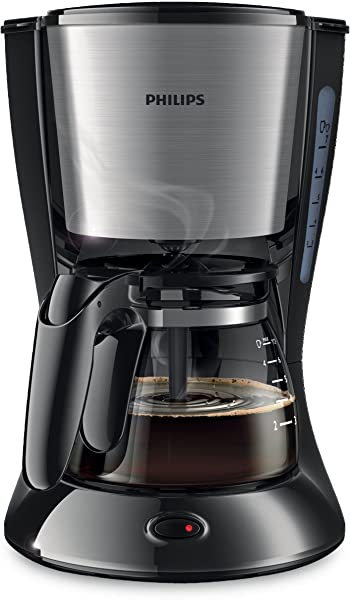 Philips Daily Collection HD7434/20 0.92-Litre Coffee Maker (Black/Metal)