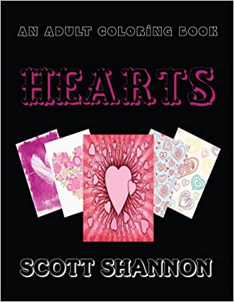 An Adult Coloring Book: Hearts