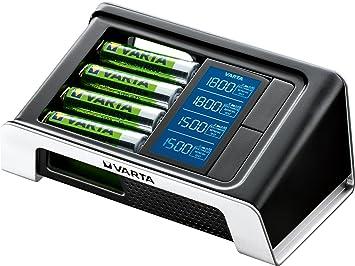 Varta LCD Chargeur ultra-rapide pour 4 AA / AAA (incl. 4x AA 2400 mAh) noir
