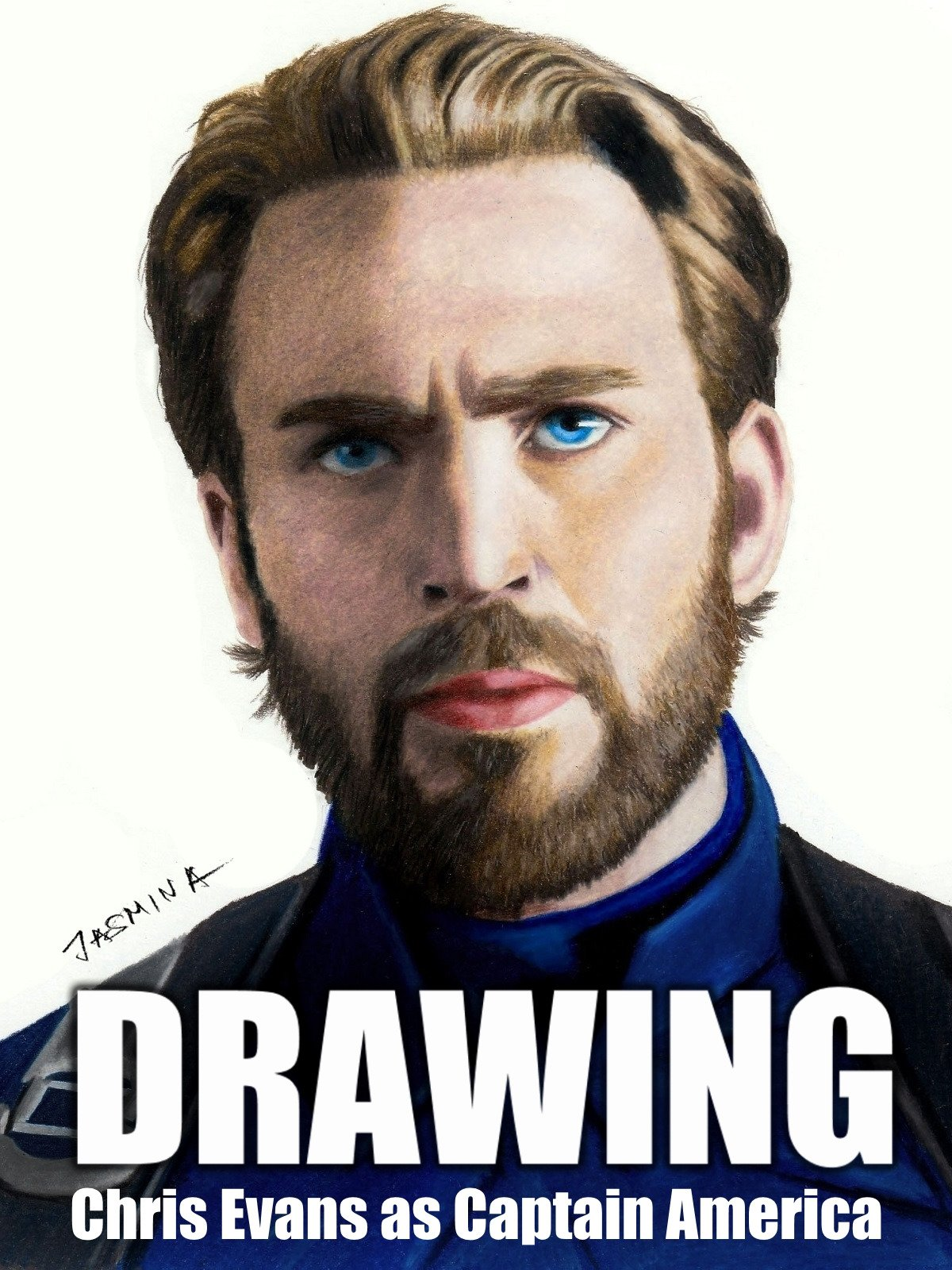 Clip: Drawing Chris Evans as Captain America