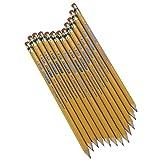 Write Dudes USA Gold Premium Cedar No. 2 Pre-Sharpened Pencils 12-Count (DDR56) (Color: Yellow, Tamaño: 12 Count)