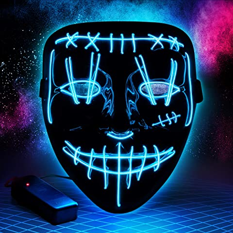 Scary Light Up Halloween Purge Mask