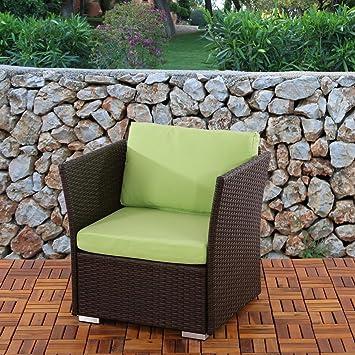Fauteuil de jardin jardin siena polyrotin pr milieu - Salon de jardin modulable siena polyrotin ...