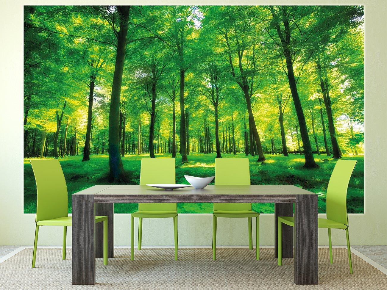 Crea un angolo verde con la carta da parati www for Carta parati verde