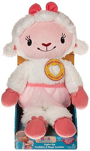 Disney Doc Mcstuffins Light Up Cuddles & Hugs Lambie Plush
