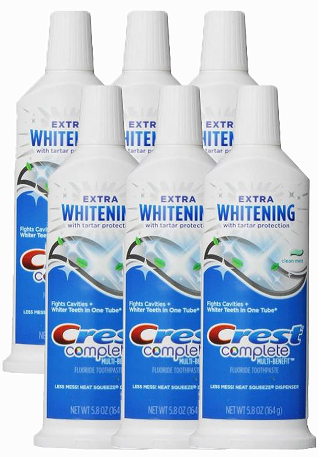 Crest Complete Multi-benefit Extra Whitening Tartar Protection Clean Mint Flavor Toothpaste, 5.8 Oz (Pack of 6) weifang 495 k4100 r4105 r6105 diesel engine and diesel generator parts 12v 24v stop solenoid for sale