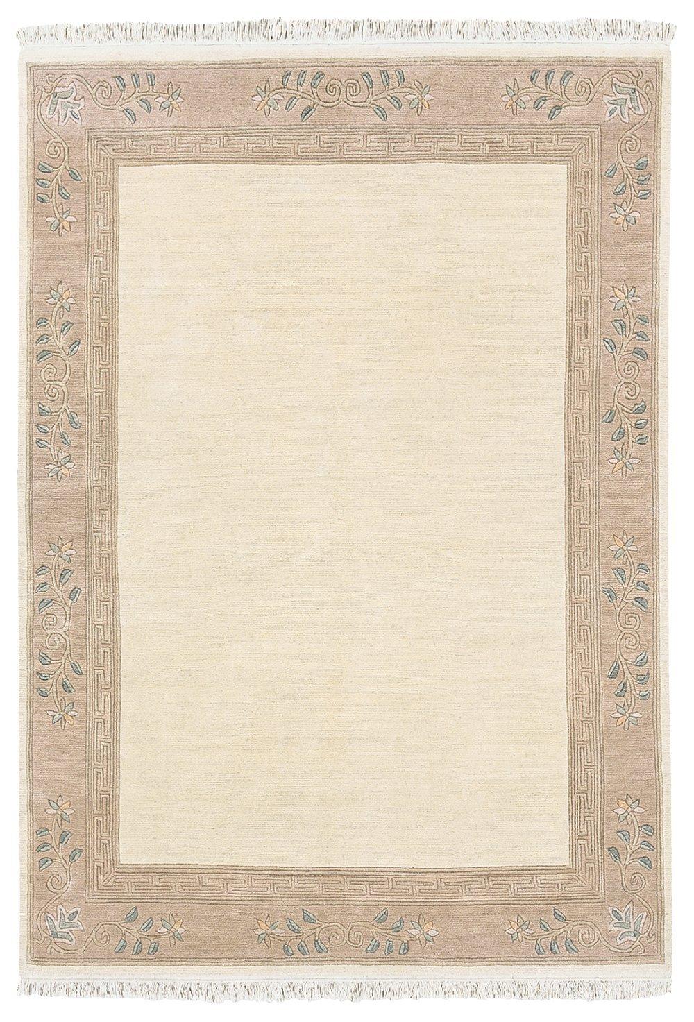 """TEPPICHWELT SONA-LUX Nepal Teppich handgeknüpft creme """"Größe auswählen"""" 200 x 250 cm"""