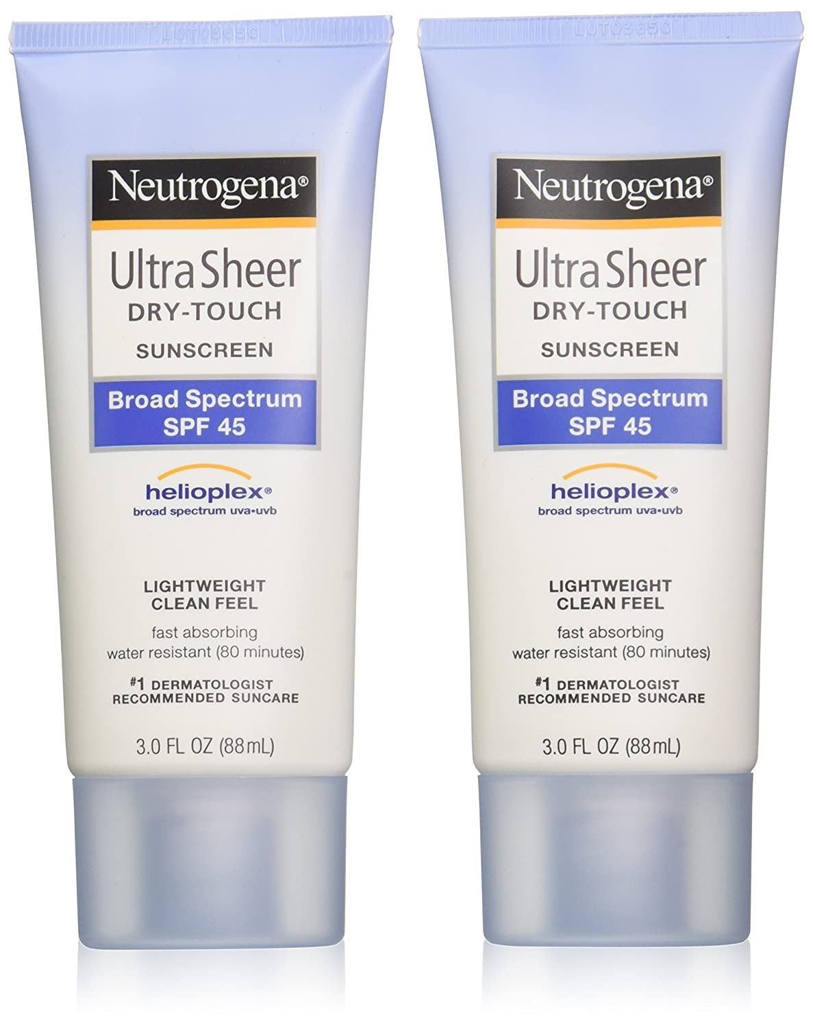 Neutrogena Ultra Sheer Drytouch Sunscreen, SPF 45, 3 Ounce (Pack of 2)