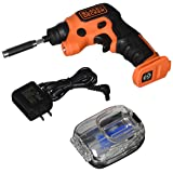 BLACK+DECKER 4V MAX Cordless Screwdriver with LED Light (BDCSFS30C) (Color: black)