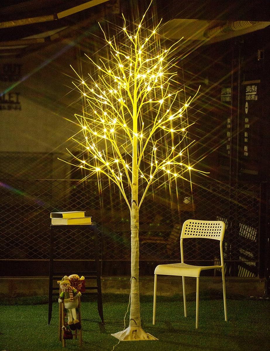 Bolylight Birch Tree 8ft 136L LED Decorations Lighted Tree ...