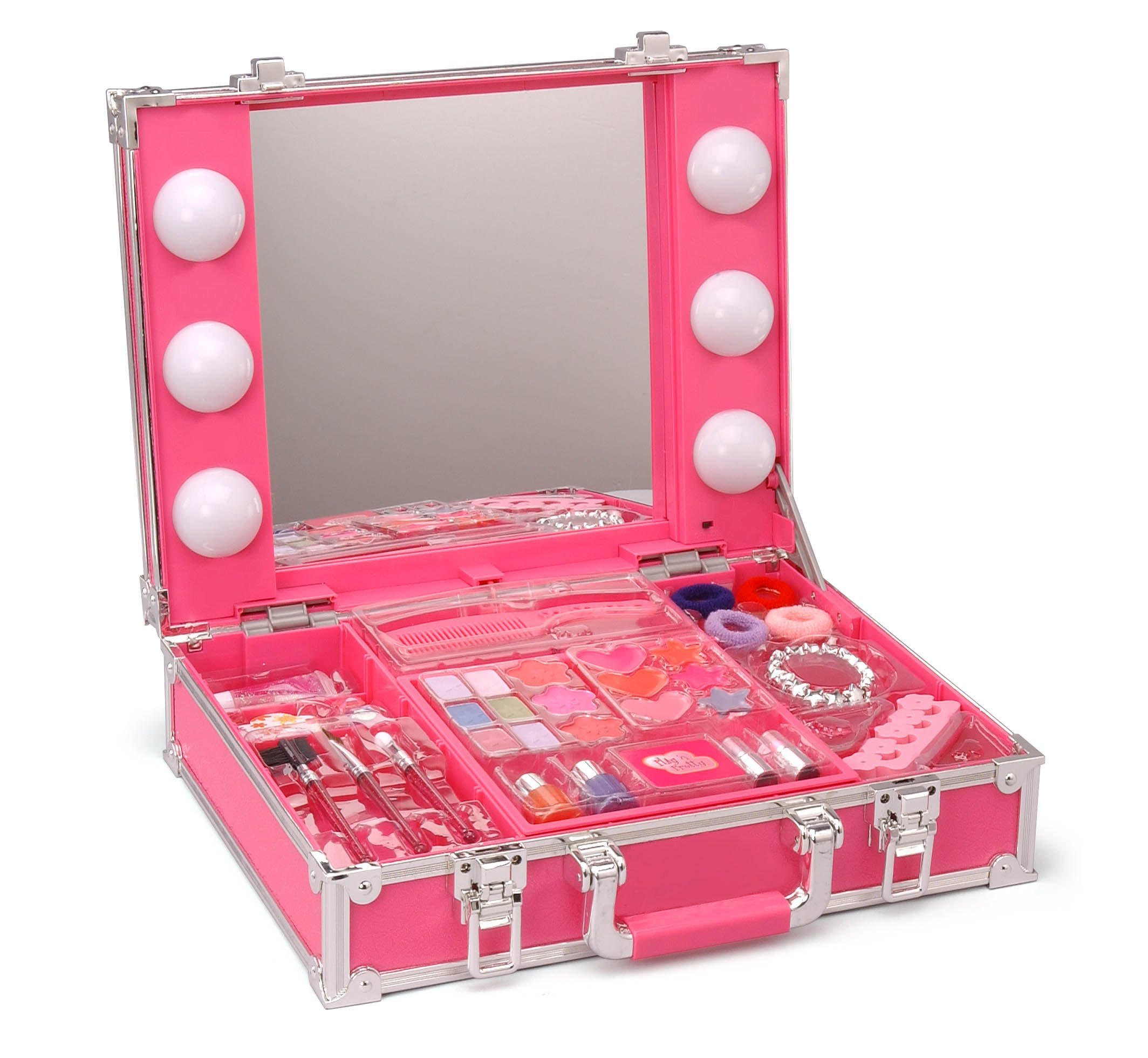 New Beauty Star Station Lighted Vanity Mirror Set Kit for Girls Shadow Gloss eBay