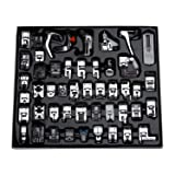 Aiskaer Professional 48pcs Sewing Machine Presser Feet Set for Brother, Babylock, Singer, Janome, Elna, Toyota, New Home, Simplicity, Kenmore, (Color: 48 Pieces)
