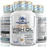 Fish Oil Omega 3 Softgels 132 Count Triple Strength Epa Dha Supplement Capsules Made From Nature 3750mg Per Serving Supports Heart Joint Skin Brain Function Health Non GMO Finest Vitamin Nutrition