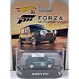 Green Morris Mini Hot Wheels HW Forza Motorsport Series 1:64 Scale Collectible Die Cast Model Car (Tamaño: 3