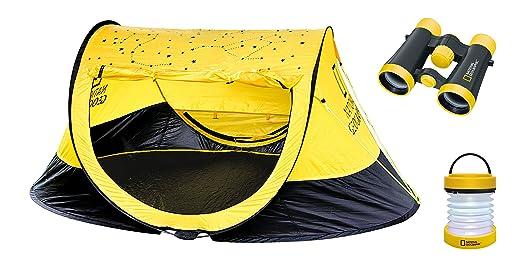 National Geographic Kinder Outdoor Fernglas Set (Wurfzelt, LED Laterne) gelb