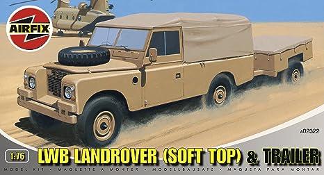 Airfix - A02322 - Construction et Maquettes - Bâtiment - LWB Land Rover (Soft Top) & Trailer