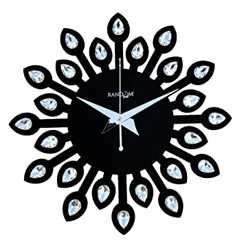 buy random clocks jewel leaf round wood wall clock 30 cm x 30 cm