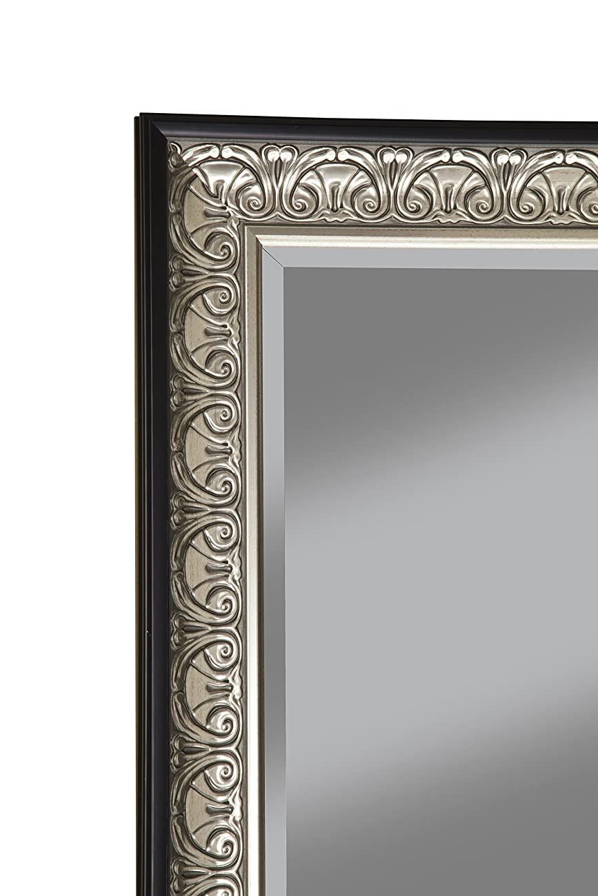 Sandberg Furniture 16011 Full Length Leaner Mirror Frame, Antique Silver/Black 4