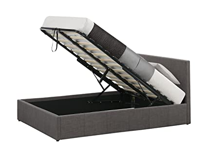 Birlea Berlin Ottoman Bed - Fabric, Grey, Double