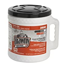 "Brawny Industrial 20040 Orange Premium All-Purpose Refillable Dry Wiper System, 13"" Length x 9.9"" Width, 200-Count Bucket, Case of 2"